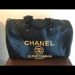 Chanel Travel Bag Duffle Gym Bag VIP gift Bag New